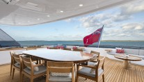 Feadship yacht BROADWATER - Upper aft deck dining