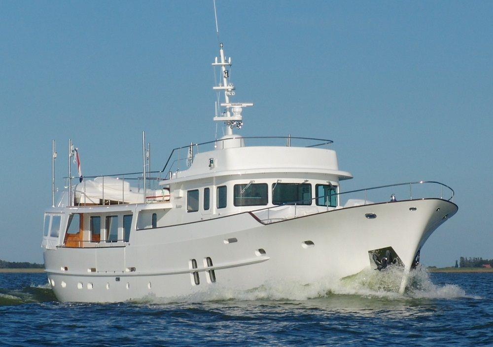 fishing boat get steel hull trawler yacht