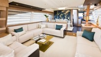 Ferretti 740 - Salon and Dining Area