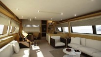 Ferretti 800 Super Yacht - Salon and Dining Area