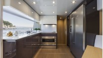 Ferretti 960 yacht - galley