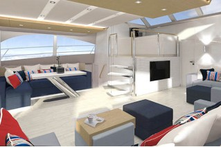 Fifth 60 Sunreef Power Yacht - Semi open saloon