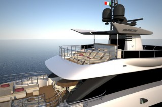 First Oceanic Yachts 140 superyacht - Fly view