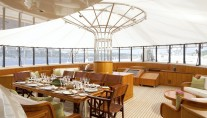 GALAXIA -  Aft Deck Dining
