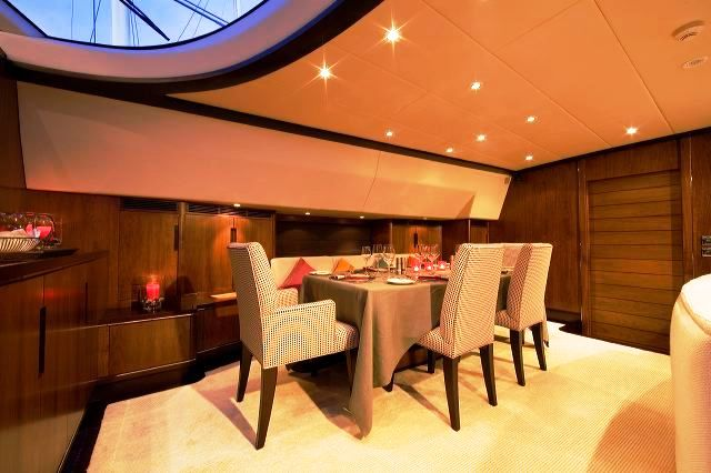 Mia cara yacht charter details fitzroy yachts for Formal dining area