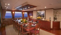 Golf Charter Yacht Stargazer -  Formal Dining Room