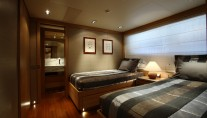 Guest Twin Cabin - Yacht Exuma - courtesy of Perini Navi