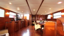 Gulet Capricorn -  Main Salon looking Aft