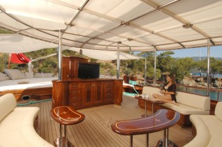 Gulet MARENOSTRUM - Aft deck seating