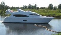 Hatteras 80 Motor Yacht on the water