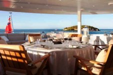 Heesen Motor yacht BLIND DATE Boat Deck Dining