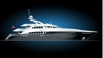 Heesen luxury yacht Lady L - striping plan profile