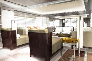 Heesen superyacht Project He - Saloon - Photo by Omega Architects