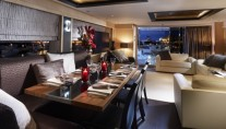 High Energy Motor Yacht Dining and Lounge Area