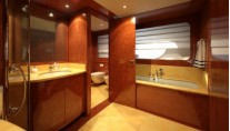 His and Hers Bathrooms on the Explorer Superyacht BARON TRENCK