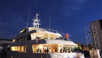 Horizon Polaris superyacht by night
