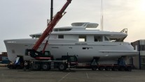 Hull and superstructure of Moonen Matica YN198 joined together - Image credit to Moonen Yachts