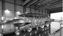 Hull and superstructure of the Project Azuro yacht