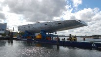 Hull of the 45m yacht Y3