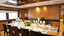IAG127 Superyacht PRIMADONNA Dining area - Photo Credit IAG Yachts (2)