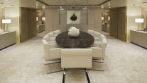 ICON - formal dining area - Image credit ICON YACHTS
