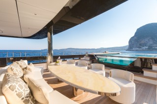 ICON 68M Superyacht - Aft deck seating