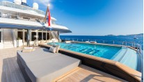 ICON 68M Superyacht - Pool deck view