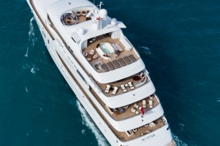 INVICTUS superyacht - aft view - decks - Photo by Jeff Brown