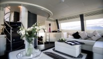 ISA Motor yacht SAMJA - Salon view forward 2