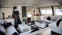ISA Motor yacht SAMJA - Salon view forward