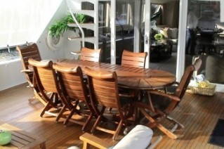 ISLAND TIME -  Aft Deck Dining