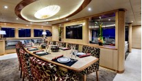 Incat Crowther designed superyacht Zenith Dining-001