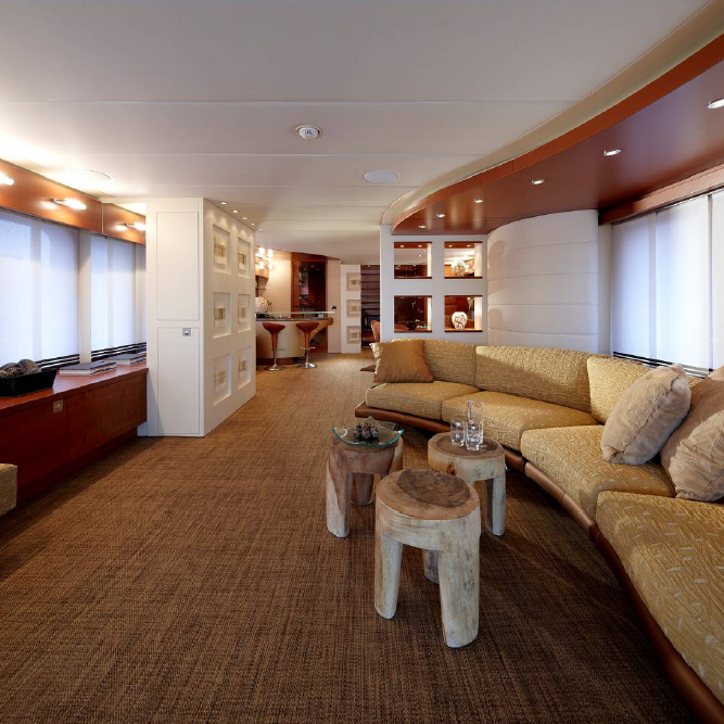 Interior of the 4th Moonen 97 yacht designed by Art-Line Interiors