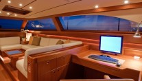 Interior of the Baltic 112 Superyacht NILAYA