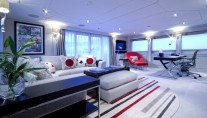 Interior of the Pendennis refitted yacht Illusion