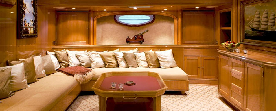 Sailing Yacht Interiors Interior of The Sailing Yacht