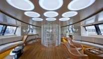 Interior of the sailing yacht Panthalassa