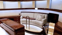 Interior of the superyacht Lady Gaga