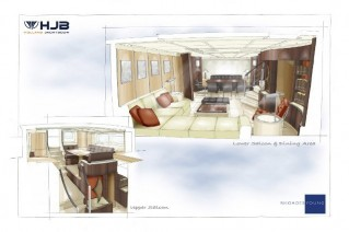 J8 Yacht - Interior designed by Rhoades Young