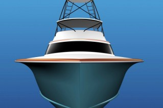 JB90 luxury yacht Hull 62 - front view