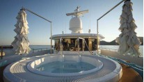 Jacuzzi aboard MY MIMTEE now RAMBLE ON ROSE - Photo credit CRN