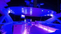 Jade 95 motor yacht al-fresco bar and entertainment area