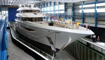 Joy before launch at Feadship