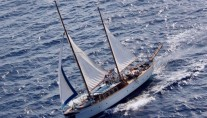 Ketch EFI -  Sailing shot from above