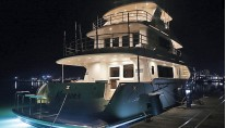 Koonoona Yacht by night - aft view