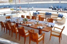 LADY DEE -  Aft deck al fresco dining