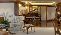 LADY KATHRYN V  grand piano in the saloon - Photo credit Lurssen