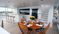 LADY M -  Aft Deck Dining