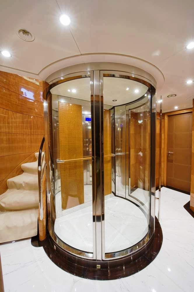 Mag iii lady sheila elevator luxury yacht browser for Luxury home elevators