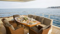 LITTLE JEMS superyacht - outdoor dining